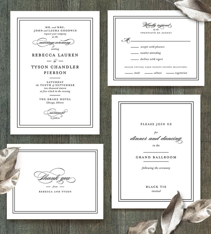 Eloquence classic wedding invitation by Sarah Brown  @minted