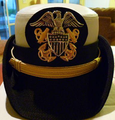 U S Navy Uniform Naval Officer Female Combination HAT Cover Size 22 | eBay