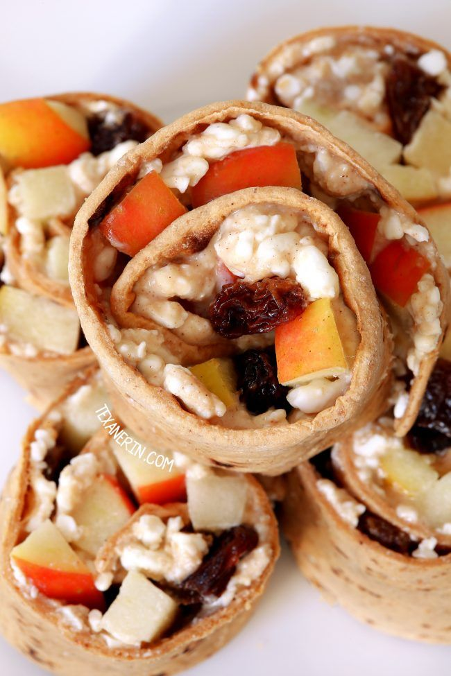 Healthy Wraps with Peanut Butter and Apple