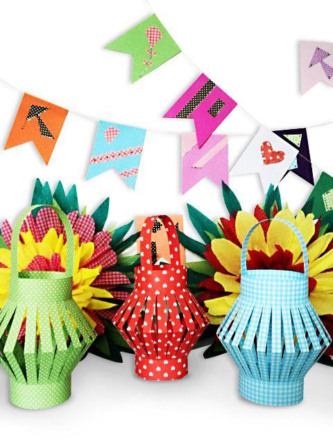 Festas Juninas - Criação Ivete Raffa / Ecocores / Ecocores Textura / Crep Pack - Novaprint