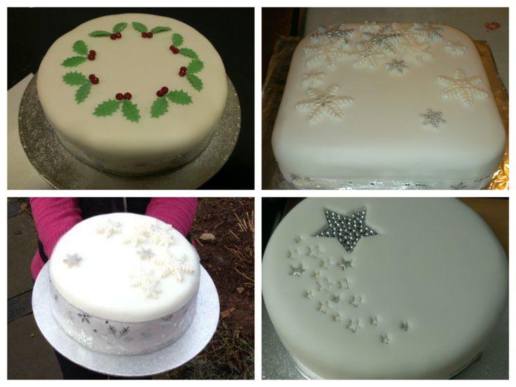 Christmas Cakes x 4
