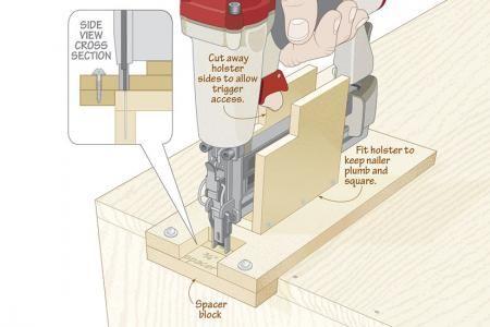 Nailer gauge makes anyone a straight shooter | WOOD Magazine