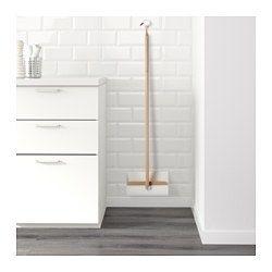 IKEA - ANVÄNDBAR, Feiebrett/kost, Støvbrettet kan brettes for å spare plass når det ikke brukes.Hempen i enden er praktisk til å henge den på veggen så du har den i nærheten.