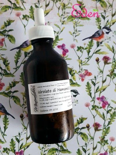 Idrolato hamamelis o amamelide - Spignatto - ricette cosmetici fai da te ecobio