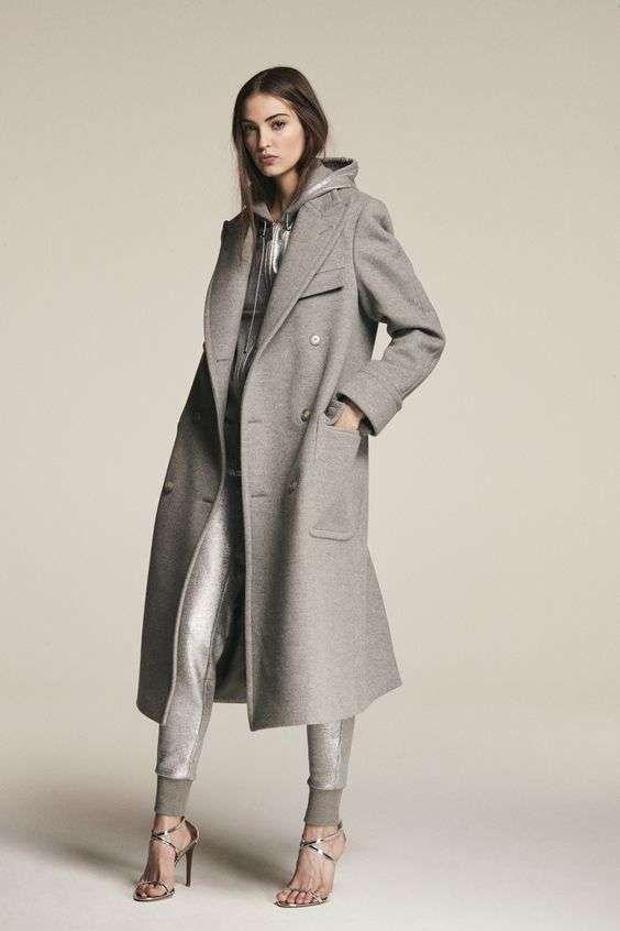 sports shoes 51487 e6ca3 Cappotto Ralph Lauren in lana colore grigio perla   COLORI ...