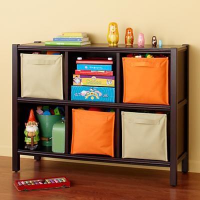 Kids' Bookcases: Kids 6-Cube Espresso Bookcase in Bookcases