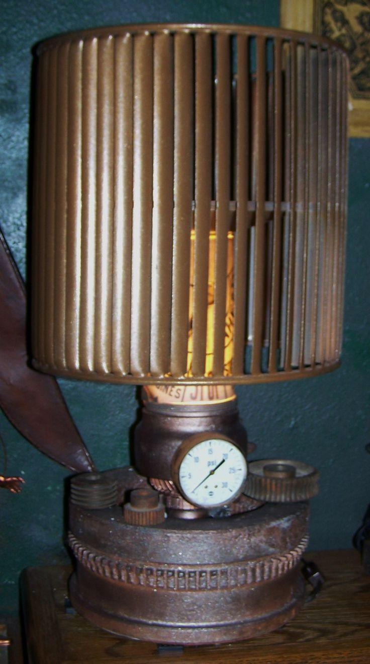 Steampunk/ Industrial lamp/ J Dooley