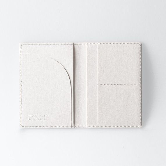 Travel Wallet / Minimalist Washable Paper Passport by SIDONIEYANG
