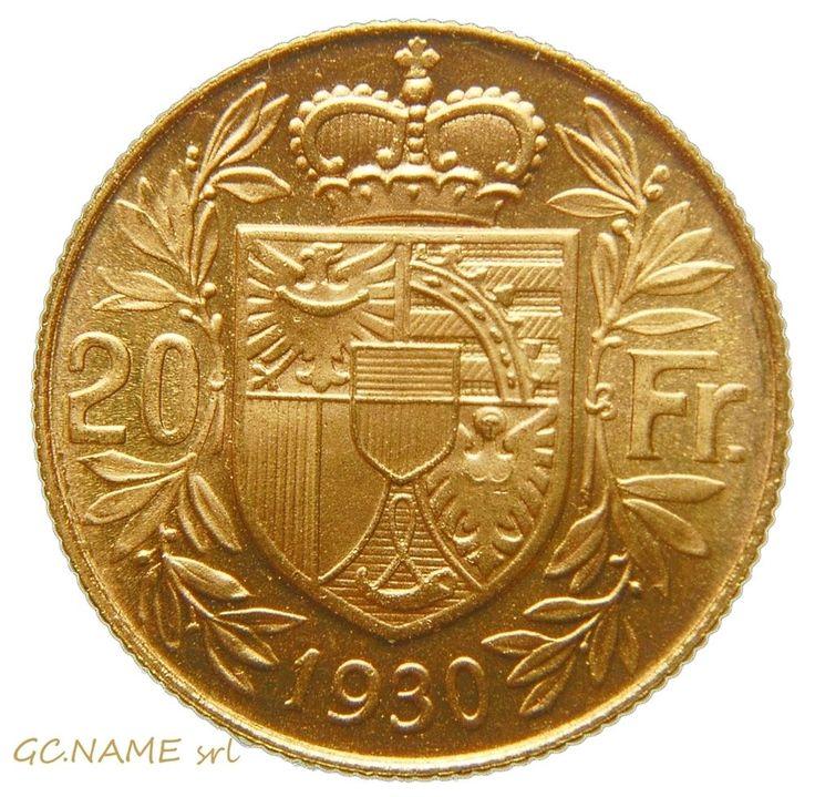 Liechtenstein. Franz I, Prince of Liechtenstein Gold 20 Franken, 1930. Rare #465