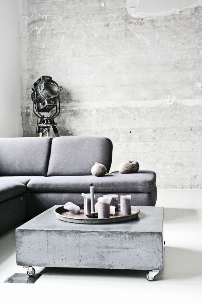 Concrete Coffee Tables You Can Buy Or Build Yourself | Loft ...