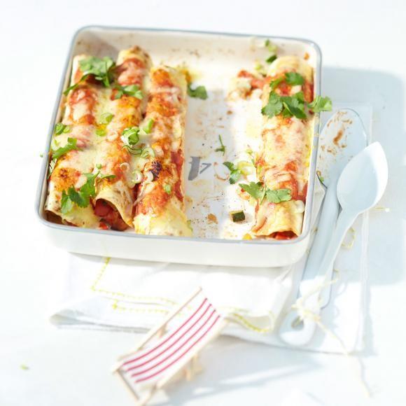 Rezept: Gemüse-Enchiladas mit Cheddar