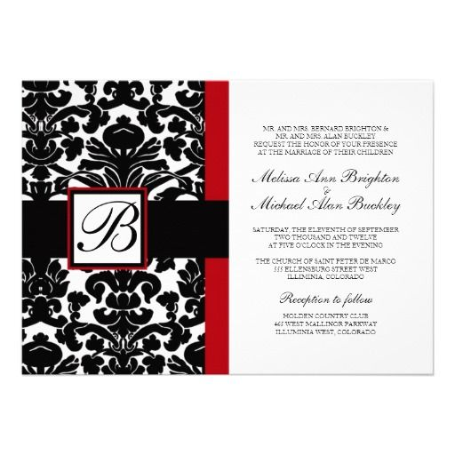 Wedding Invitations Red White And Black: 1000+ Images About Black White And Red Wedding Invitations