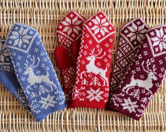 Image result for old wool mittens norway