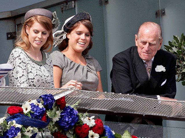 The Queen's Diamond Jubilee  (11 of 12 photos)  Princess Beatrice, Princess Eugenie and Prince Phillip  Sarah Ferguson, the Duchess of York, tweeted about her daughters with Prince Andrew.