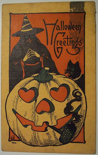 Vintage Halloween Postcard Bergman | Flickr - Photo Sharing!
