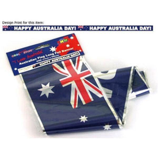 Australia Happy Day Aussie Flag Foil Party Banner