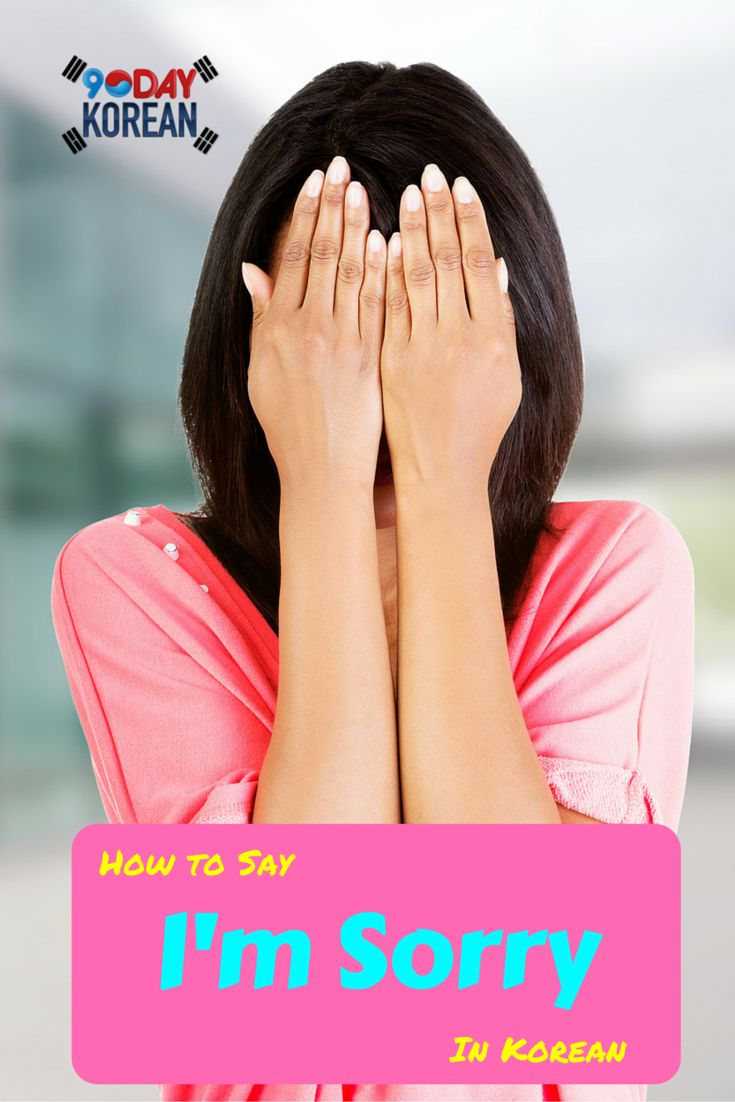 How To Say 'i'm Sorry' In Korean Here Are The Phrases You Need To Know In  Order To Apologize In Korean #koreanphrases…  Pinteres…