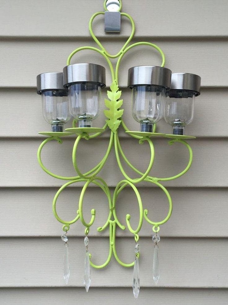 269 best images about garden chandeliers on pinterest for Solar light chandelier diy