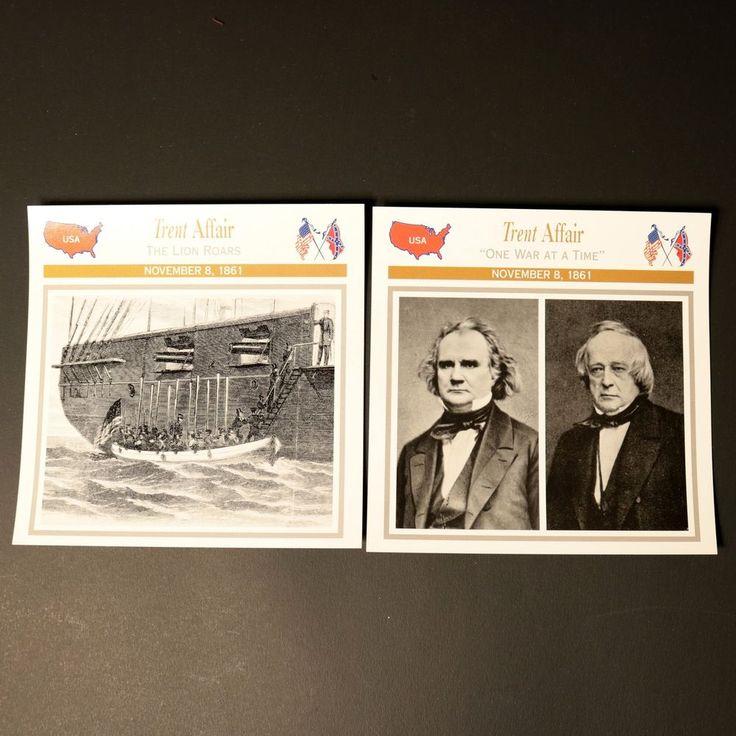 Civil War Knowledge Cards Trent Affair Photo USA War Mason Slidell Confederacy