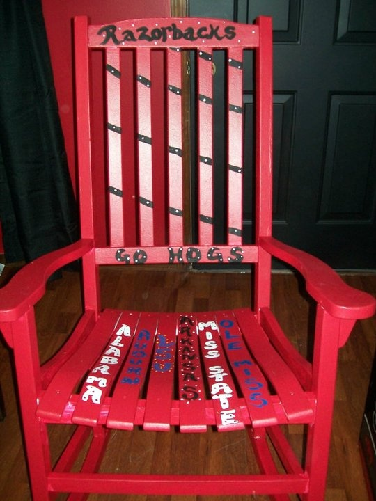 Razorback Classroom Decor : Razorback redo rocker my upcycled stuff pinterest