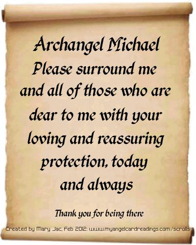 Send your prayers to the Archangels HERE >> http://www.myangelcardreadings.com/scrolls - it's FREE to do :)
