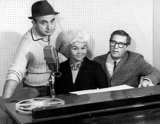 Etta James at Chess Records Studios in Chicago, 1960.