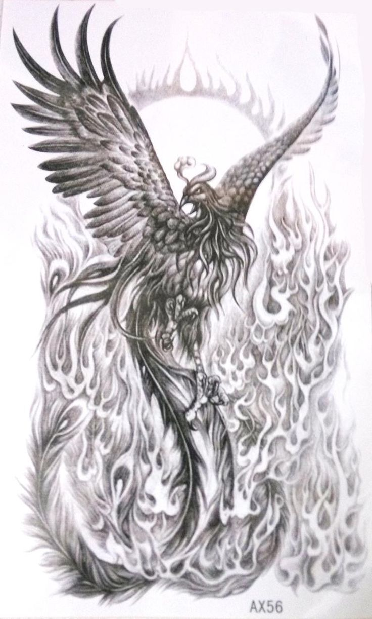 interesting spin on a phoenix, even if it is a temporary tat