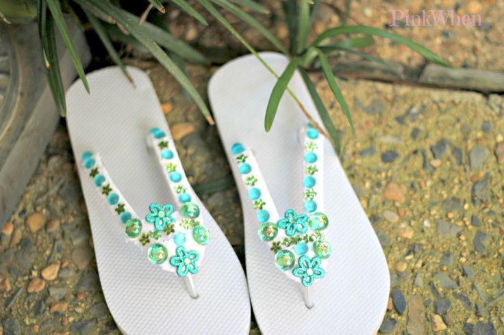 Decorating Your Own Flip Flops for Summer With summer around the corner, flip flop season is now here as well!  Why not make your very own flip flops with some added bling?  You can easily do that ...