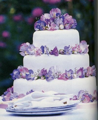 Sweet Pea Cake Flowers