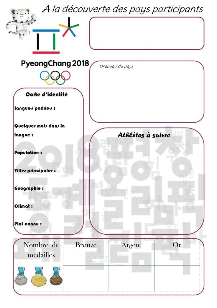 Les JO d'hiver 2018 auront lieu à Pyeongchang , Corée du Sud, du 9 au 25 au février 2018 : 82 nations seront représentées !       Un gros g...