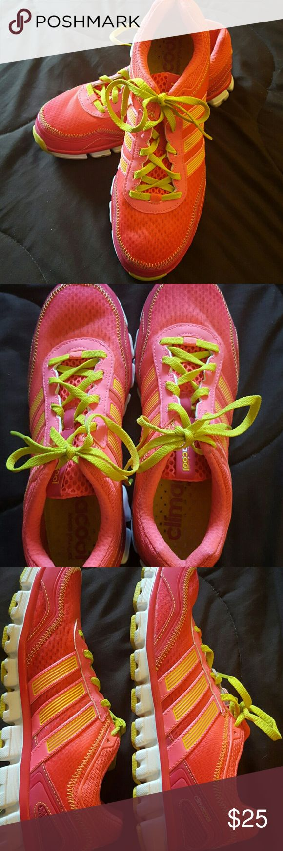 REDUCED! Climate cool Neon running  sneakers Climate cool Neon running sneakers Adidas Shoes Sneakers