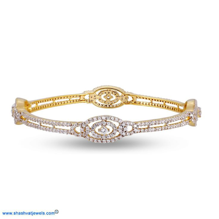 Delicate, unique and undeniably stylish, adorn your wrists with this unique oval style bangle and feel like a diva! Perfect for the fashionista in you! Best to deal. #diamond #bangle #for #her http://www.shashvatjewels.com/ProductDetail.aspx?prdid=1077&name=The%20Oval%20Style%20Women's%20Diamond%20Bangle All our designs are available in white gold and silver..!!