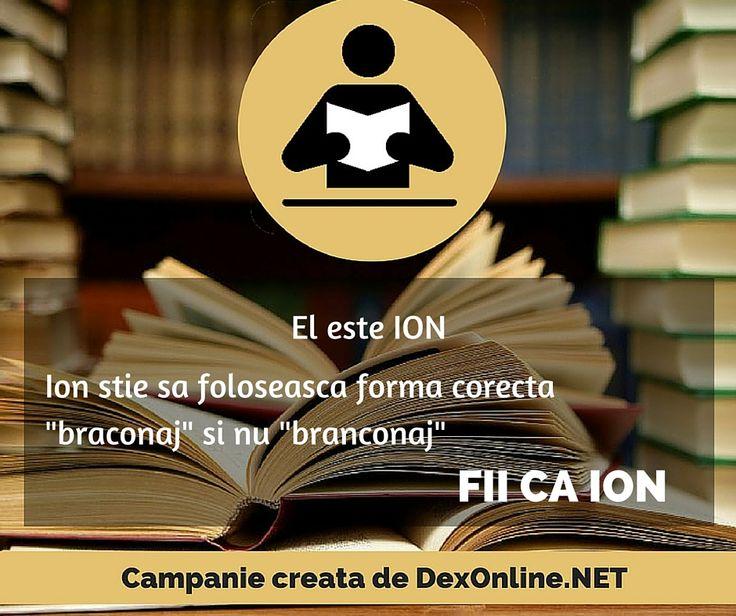 Fii ca ION Salvam limba romana impreuna!  #corect #fiicaion #dictionar Campanie dexonline.net