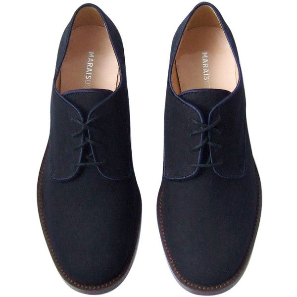 Marais Oxford Shoe (5.430 RUB) found on Polyvore featuring shoes, oxfords, flats, zapatos, buty, oxford shoes, flat heel shoes, brogue oxford shoes, flat oxford shoes and wingtip oxfords