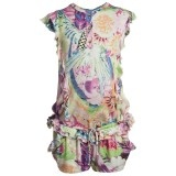 Girls Floral Jersey Playsuit