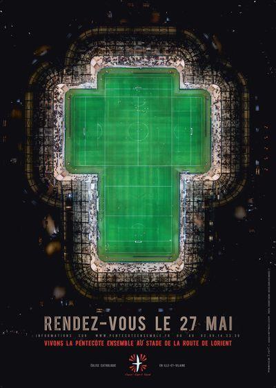 """""""Messie"""" attendudimanche au stade de la route de Lorient #compublique"""