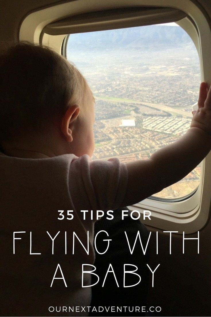 Our best tips for stress-free flying with baby, from booking your flight to at the airport. #familytravel #travelwithbaby // Traveling with Baby | Flying with Infant | Travel with Kids | What to Pack | Air Travel | Plane Travel | Infant Seat | Family Travel | Fly Baby