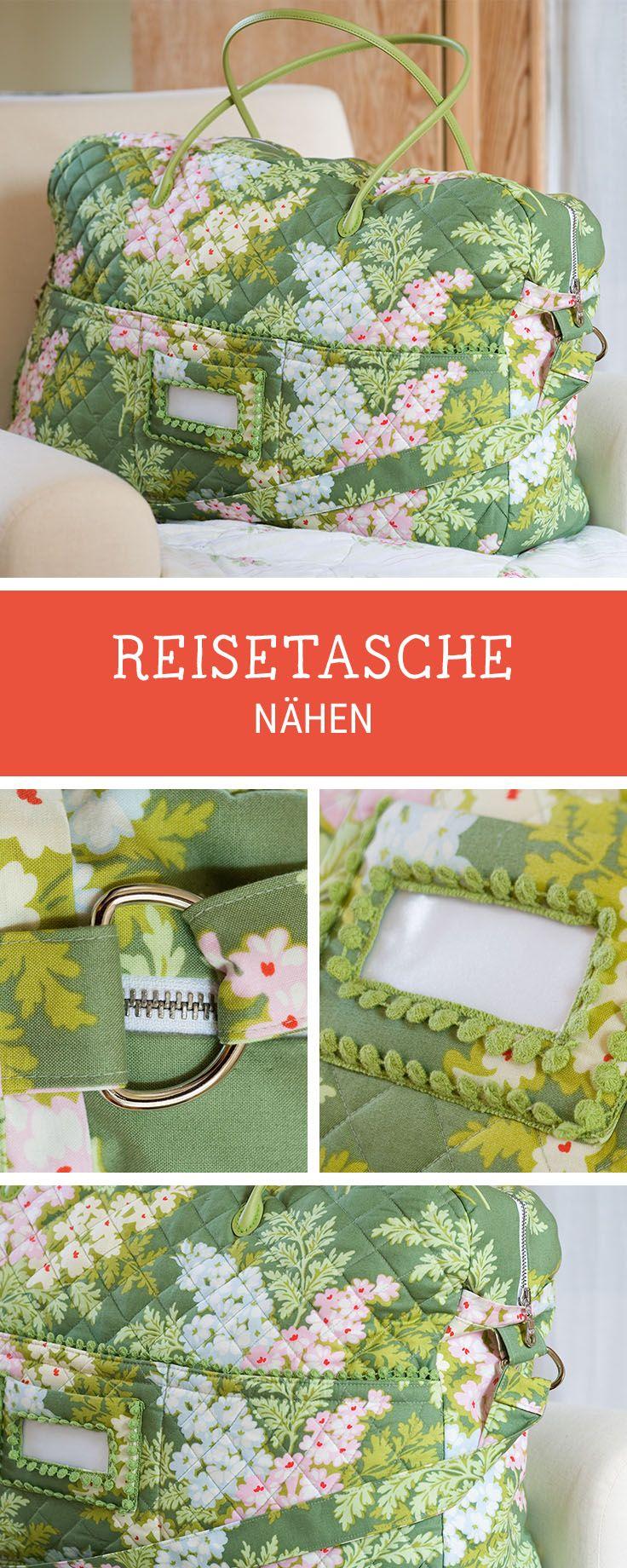 DIY-Nähanleitung für eine Reisetasche mit Fenster, Tasche nähen / diy sewing pattern for a travel bag, diy weekender via DaWanda.com