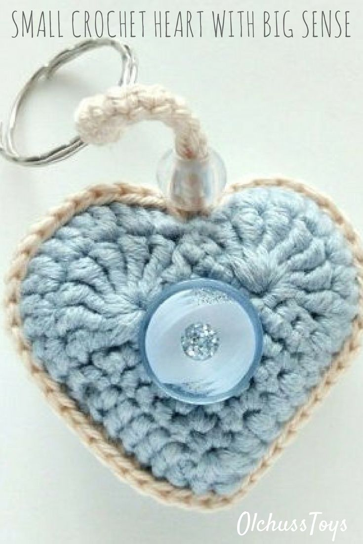 Small crochet heart with big sense. It is lovely It is clearly It is beauty It is shows your sympathy, you care, your love...