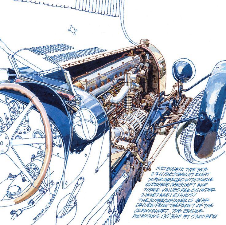 1927 bugatti type 35 peter hutton race car cutaways. Black Bedroom Furniture Sets. Home Design Ideas