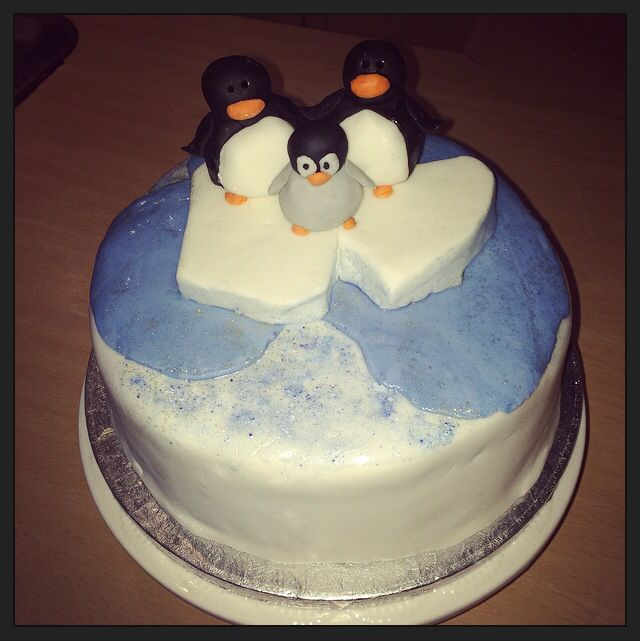 Penguin Christmas Cake (recipe here http://www.bbcgoodfood.com/recipes/2607642/make-and-mature-christmas-cake)