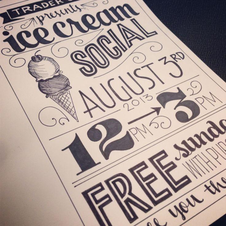 Ice cream social sign