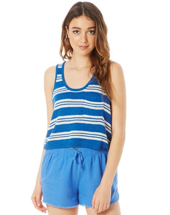 $10 (was $29.99) Stripe Knit Pocket Tank | Buy Online at Glassons - Bargain Bro