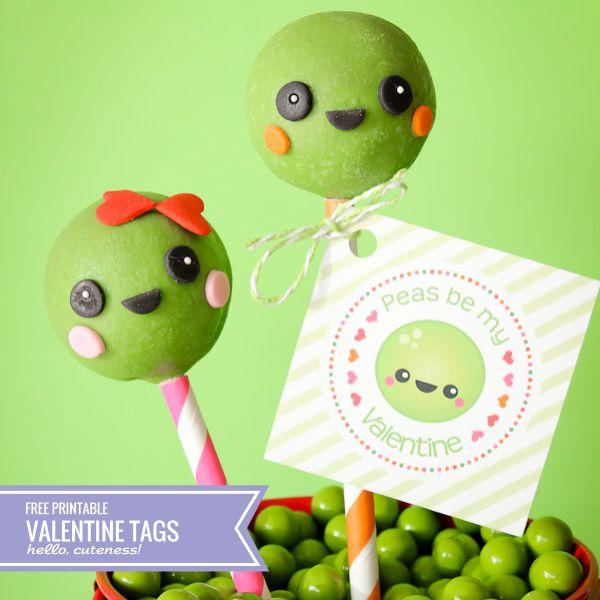 {Free Printable} Peas Be My Valentine Tags