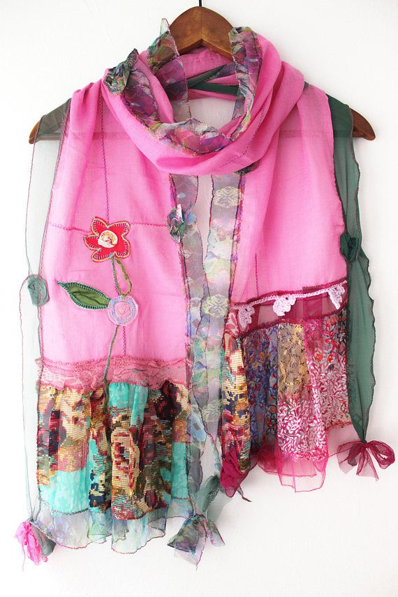 Pink cotton scarf women pink scarf forest pink scarf shawl