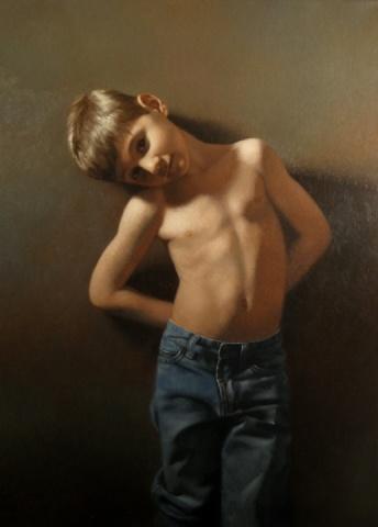 Portrait Of Forest 29x21 Oil Canvas Figure PaintingGrey