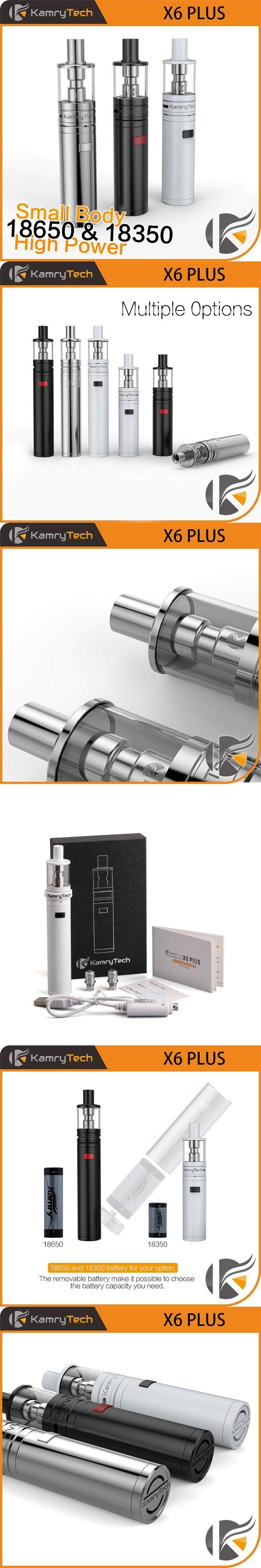 Electronic Cigarette Vape Pen EGO E Hookah Vaporizer Kamry X6 Plus Cigarette Kit Mech Mod X6 plus Atomizer E Cigarette X1091