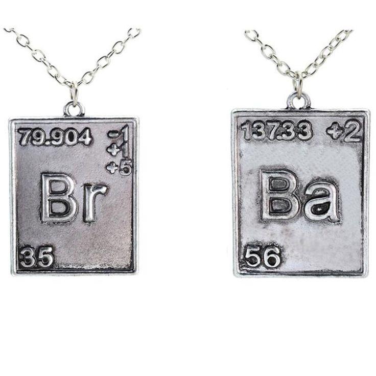 2016 Breaking Bad Ожерелье антиквариата год сбора винограда серебряный тормозной ба уолтер уайт гейзенберг химических symbal кулон