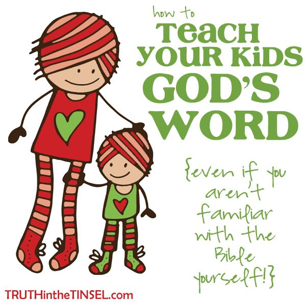 7 Simple Tips for teaching your kids God's Word this Christmas (or anytime!) #truthtinsel