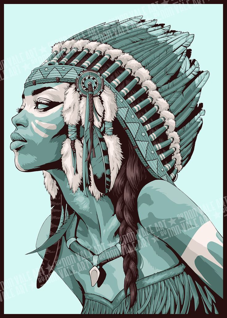 FEATURED ARTIST: NON VALE. Native Americans > superb #illustration #art